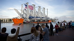 Four more Neo-Panamax cranes arrive at the Port of Savannah